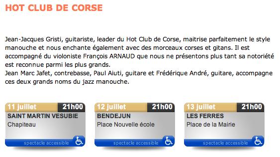 François Arnaud et le Hot Club de Corse