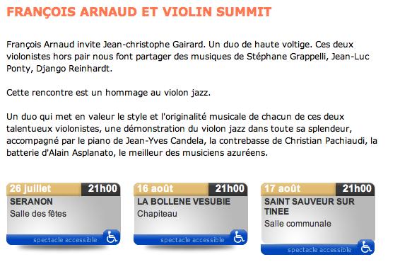 François Arnaud et le Violin Summit